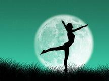 луна танцора иллюстрация вектора