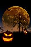 Луна тыквы Halloween Стоковые Фото