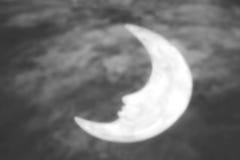 Луна фантазии, черно-белый тон Стоковые Изображения