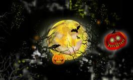 Луна хеллоуина Стоковая Фотография RF