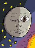 луна человека Стоковое фото RF