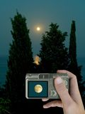 луна lcd Стоковое Фото
