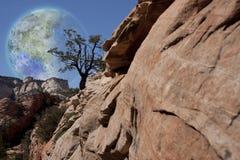 Луна Terraformed стоковые изображения rf