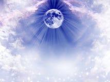 Лунная астрология иллюстрация вектора