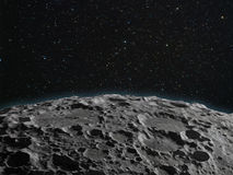 Лунная поверхность стоковое изображение rf