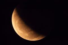 Лунное затмение на 2015/04/04 Стоковое Изображение