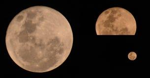 Лунное затмение полнолуния стоковое изображение
