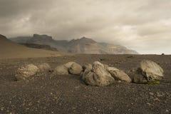 Лунный ландшафт в Исландии Стоковое Изображение