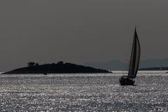 Лунный свет на море Стоковые Изображения RF