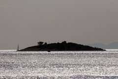 Лунный свет на море Стоковое фото RF