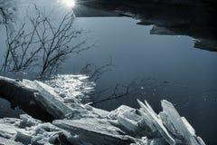 Лунный свет на льде Стоковая Фотография RF