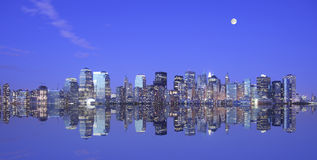 лунный свет manhattan сверх Стоковое Изображение RF