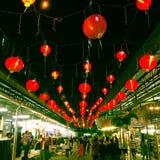 Лунный фестиваль - Новый Год китайца на рынке Таиланд ночи Kra песни, стоковые изображения rf