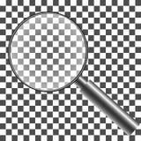 Лупа с прозрачной предпосылкой с сеткой градиента, Стоковые Изображения RF