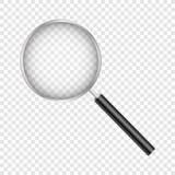 Лупа, с сеткой градиента, изолированной на прозрачной предпосылке, с сеткой градиента, иллюстрация вектора иллюстрация вектора