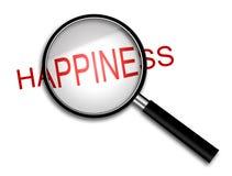 Лупа с счастьем стоковые фотографии rf