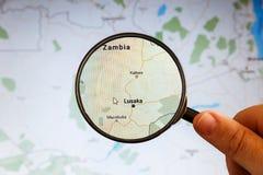Лусака, Замбия Политическая карта стоковое фото