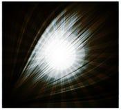Лучи абстрактной черной предпосылки красивые света Стоковые Изображения RF