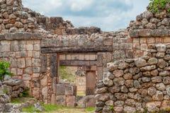 Лучи и штендеры Майя, археологической зоны Ek Balam стоковая фотография