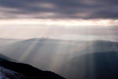 лучи поляризовыванные светом Стоковая Фотография