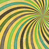 лучи ретро свирли 70's 60's в стиле фанк одичалые спиральн Стоковые Изображения RF