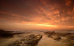 Лучи света в небе Стоковые Изображения RF