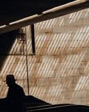 Лучи силуэта света стоковая фотография rf