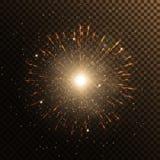 Лучи солнечного света Иллюстрация прозрачного фона Стоковые Фото