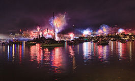 Лучи шариков военно-морского флота Sy FW широко Стоковое Фото