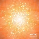 Лучи Sun с пузырями - абстрактной предпосылкой Стоковое Изображение RF
