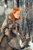 Лучник девушки Стоковое Фото