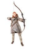 Лучник девушки стоковое изображение