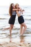 Лучшие други на пляже Стоковая Фотография RF