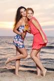 Лучшие други на пляже Стоковое Изображение