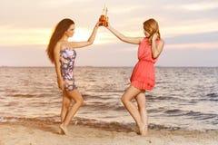 Лучшие други на пляже Стоковые Изображения