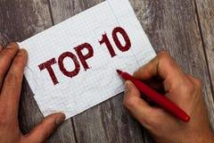 10 лучших текста почерка На список смысла концепции большинств требуя отклоняя кино песен показано онлайн в заказе стоковое фото