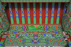 Луч крыши виска Кореи Пусана Beomeosa стоковое изображение
