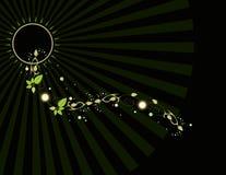 луч листьев предпосылки Стоковая Фотография