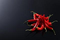 Луч перца красных чилей Стоковое Изображение