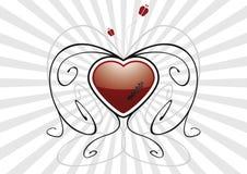 луч сердца взрыва серый Стоковая Фотография RF