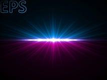 Луч энергии на горизонте Стоковое Изображение RF