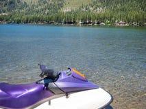 Лыжа двигателя на озере Donner Стоковые Изображения RF