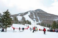 Лыжа горы охотника стоковые изображения