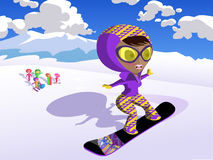 лыжа девушки Стоковая Фотография RF