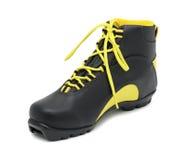 лыжа изолированная ботинком Стоковое Фото