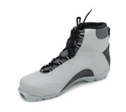 лыжа изолированная ботинком Стоковые Изображения