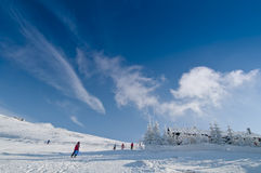 лыжа курорта горы Стоковое Фото