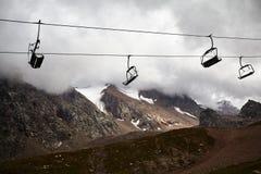 лыжа курорта горы стоковая фотография rf