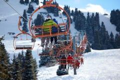 лыжа курорта лифта Стоковое Изображение RF