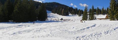 лыжа курорта панорамы Стоковое Изображение